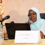 الأستاذة سكينة ممن عضو فرع مؤسسة محمد السادس للعلماء الأفارقة بالنيجر