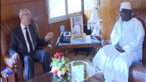 لقاء وزير الأوقاف والشؤون الإسلامية بالخليفة العام للطريقة التيجانية بتيواوان بالسنغال