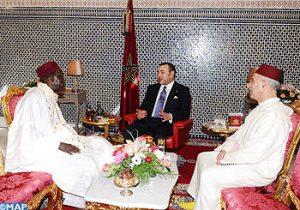 أمير المؤمنين جلالة الملك يستقبل الأمين العام لرابطة علماء المغرب والسنغال