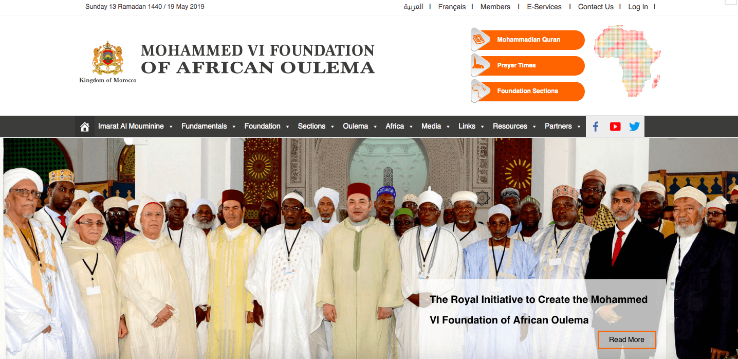 The Official Website of the Mohammed VI Foundation of African Oulema